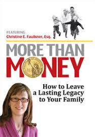 Elk Grove Estate Planning Attorney Christine Faulkner Book Cover More Than Money